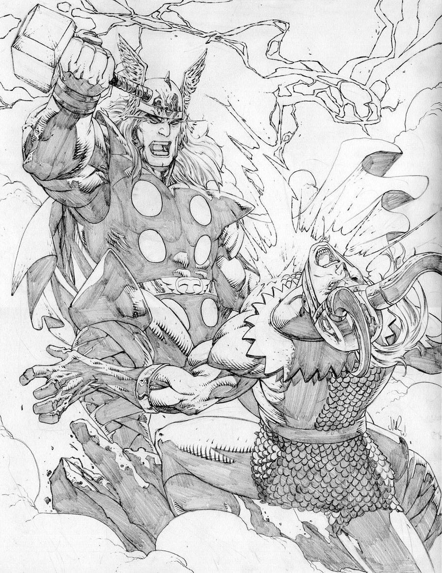 900x1165 Thor Vs Loki By Jonathan On @