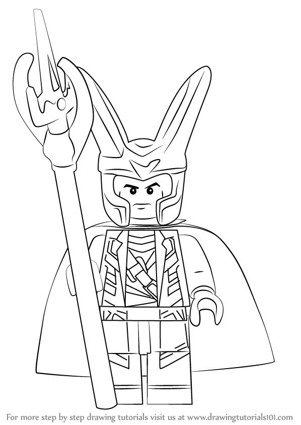 598x844 Learn How To Draw Lego Loki (Lego) Step By Step Drawing Tutorials