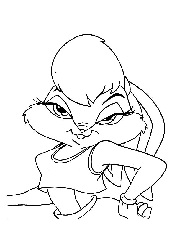 600x834 Drawing Lola Bunny Coloring Pages