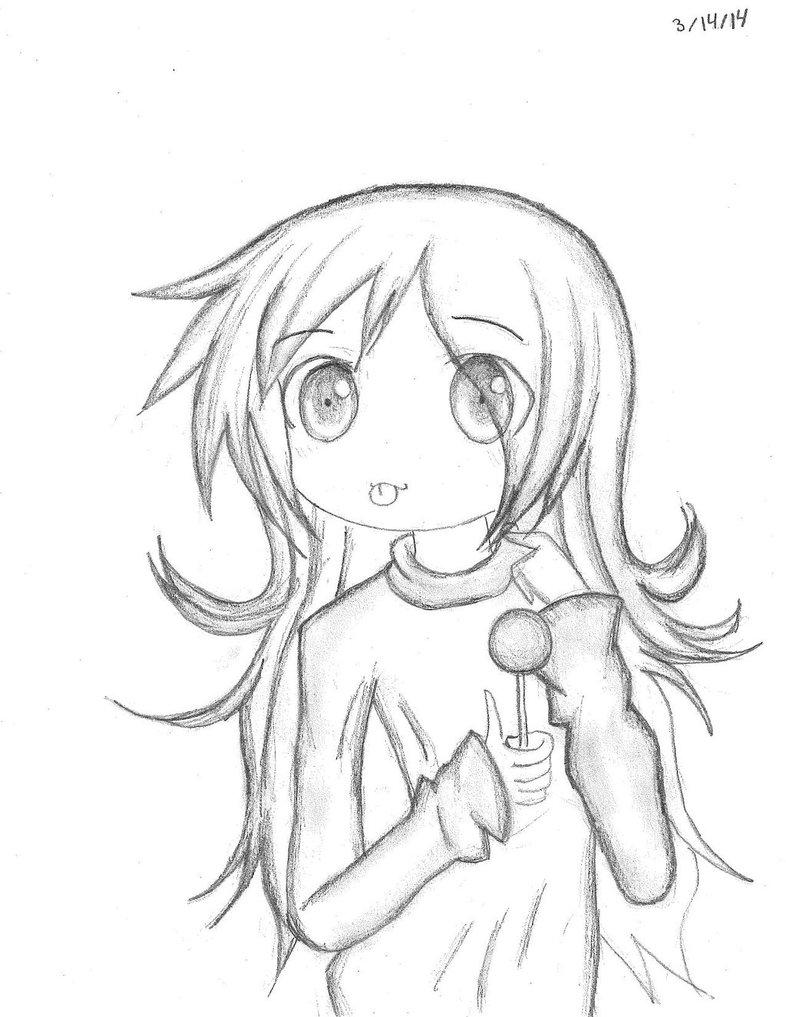 786x1017 2014 03 14 Courtney's Lollipop Drawing By Piethedon