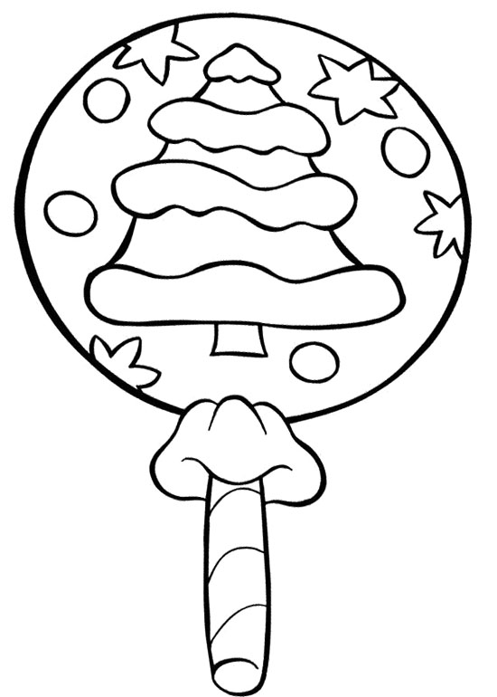 550x770 Christmas Lollipop Candy Coloring Page Cookie