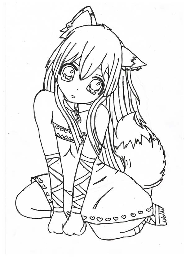 600x825 Coloring Pages Draw A Girl Click The Chibi Lollipop Girl
