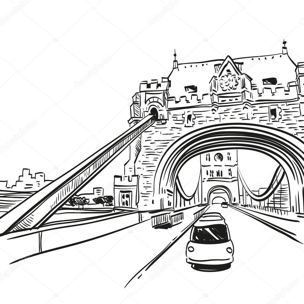 1024x1024 London Bridge Stock Vector Roman84
