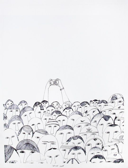 540x708 By Ningeokuluk Teevee. This Crowd Portrait Is Before The Mobile
