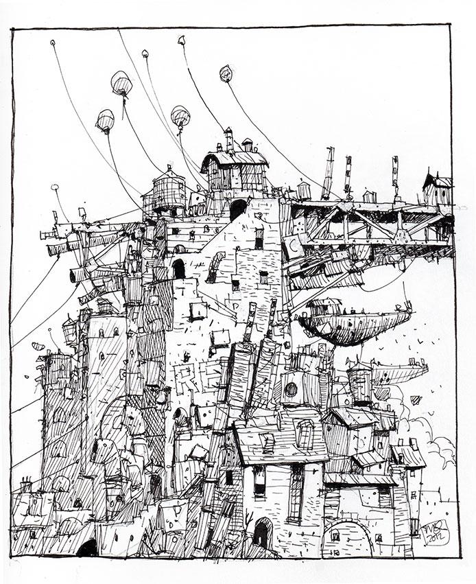 694x851 Ian Mcque Concept Art Concept Roughs Concept Art