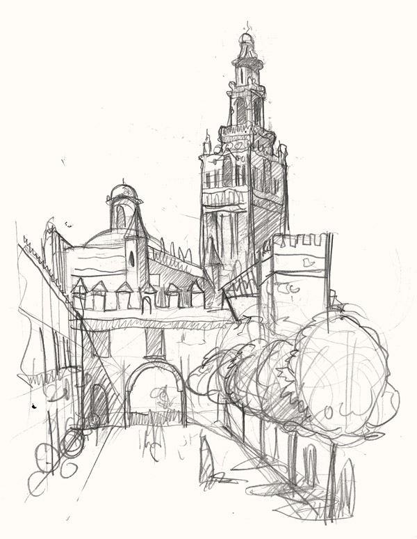 600x774 A Painting And Drawing Trip To Seville In Spain