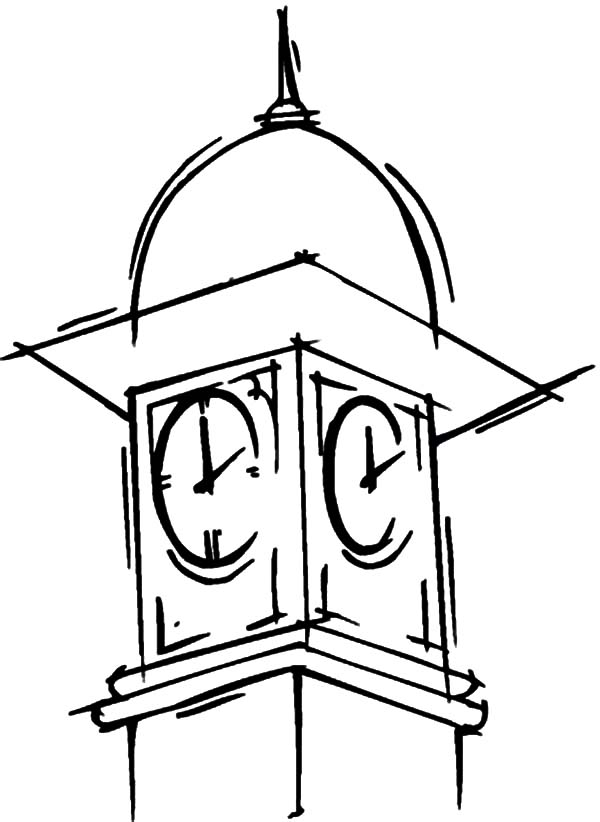 600x822 Big Ben Clock Tower Coloring Pages