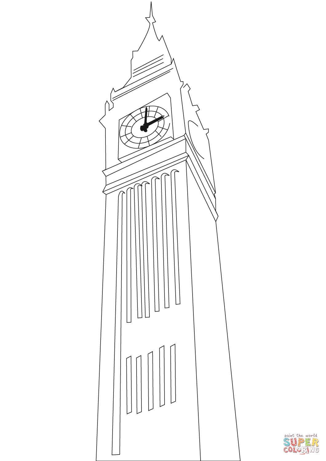 1060x1500 Big Ben In London Coloring Page Free Printable Pages