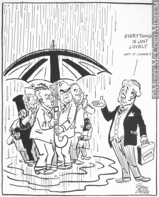 311x384 M965.199.7010 London Weather Report. Drawing, Cartoon John
