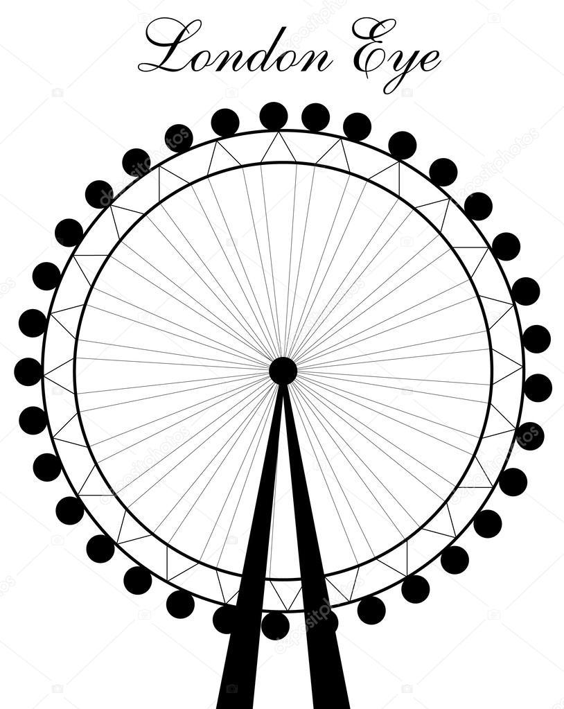 814x1023 London Eye Silhouette Stock Vector Newelle