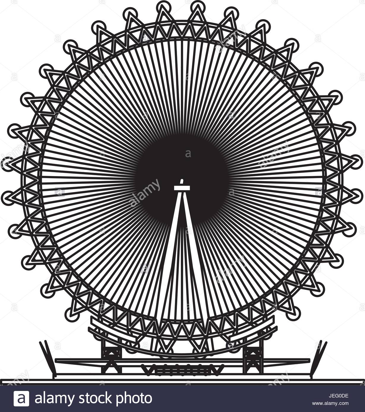 1229x1390 London Eye Symbol Stock Vector Art Amp Illustration, Vector Image