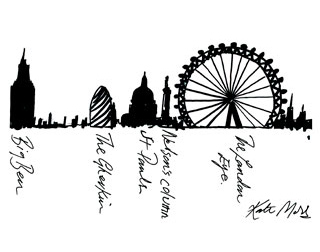 320x252 See Kate Moss' Handwriting Illustrating The London Eye