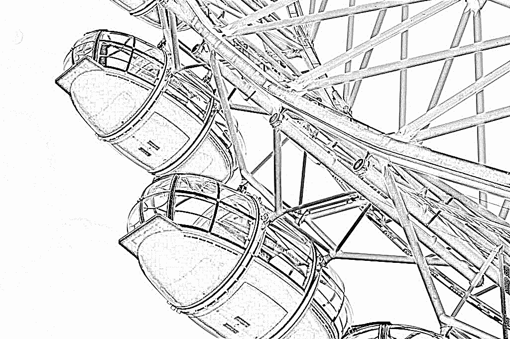 1024x681 Coloring Pages Of London Eye ~ The Ideas Of Coloring Page