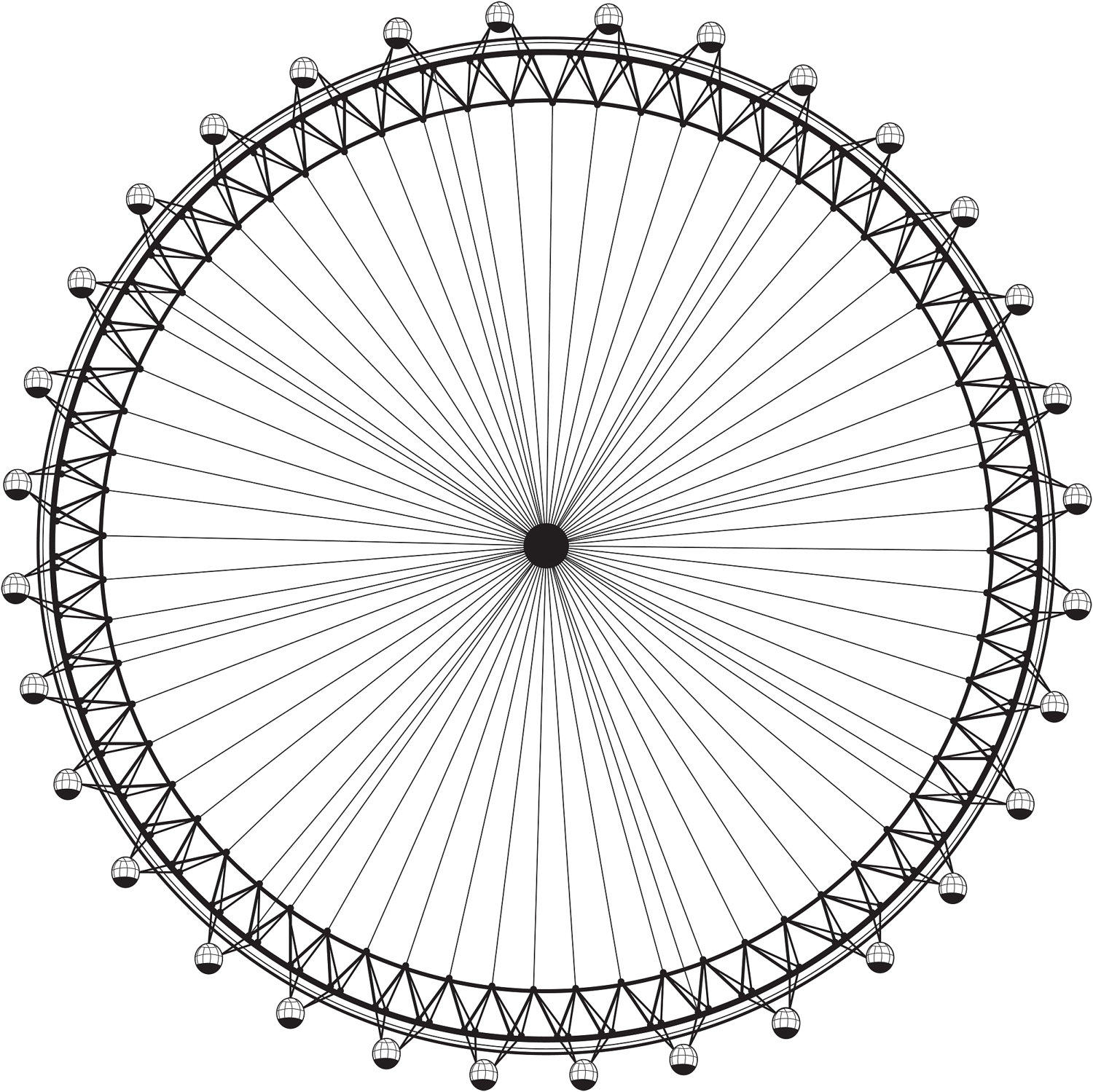 1500x1499 London Eye, Vector Image Paint The Moment