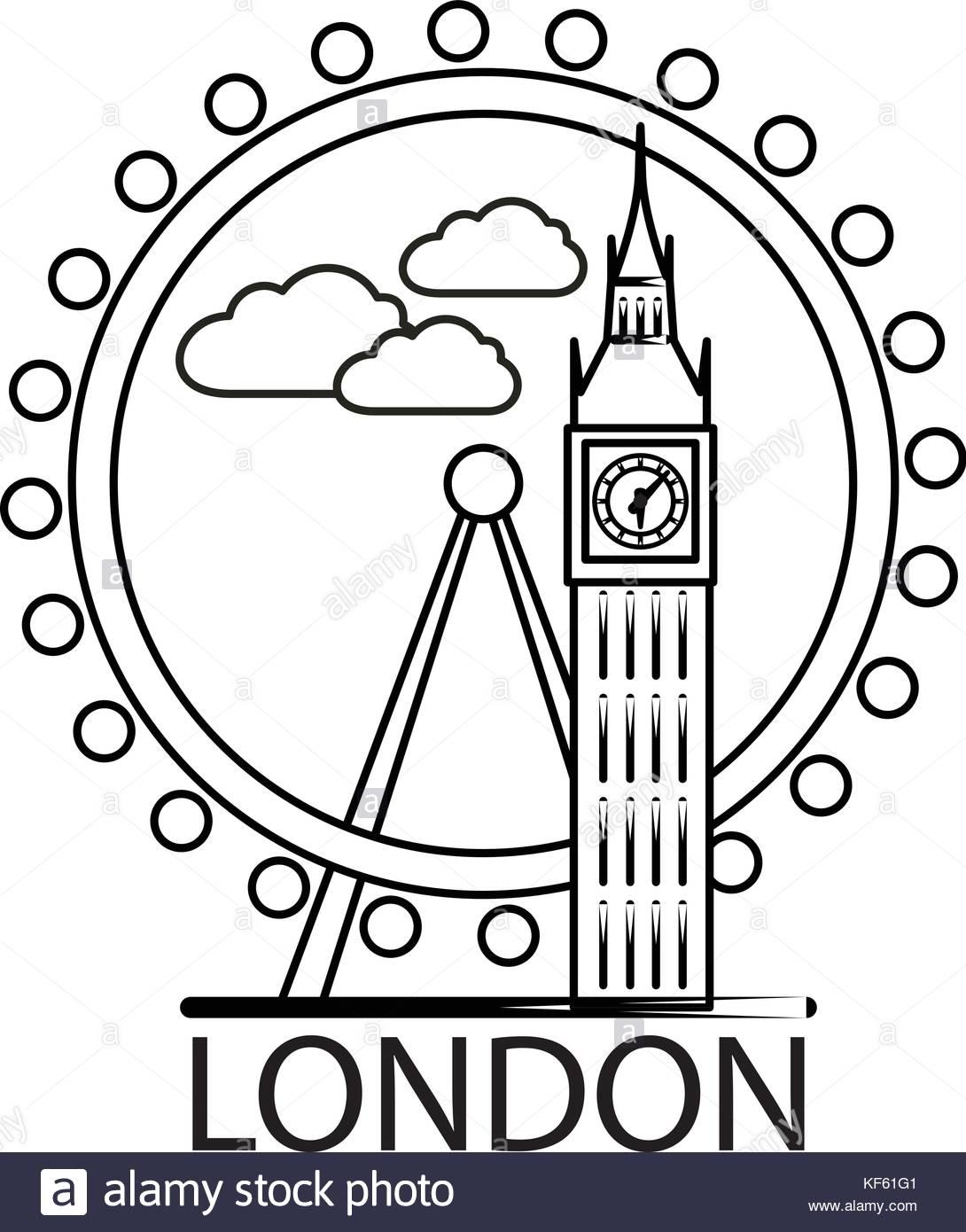 1090x1390 City London Skyline Illustration Stock Photos Amp City London