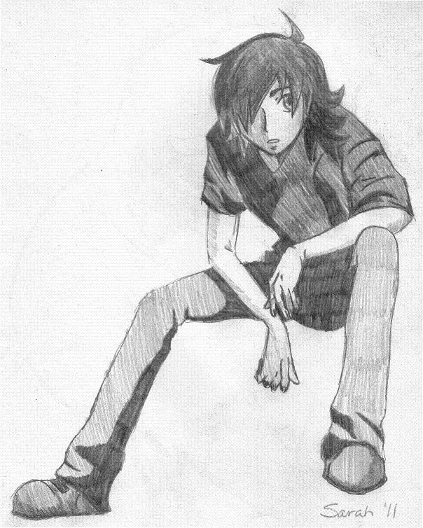 604x754 pictures pencil draw sad and lonely boy pic