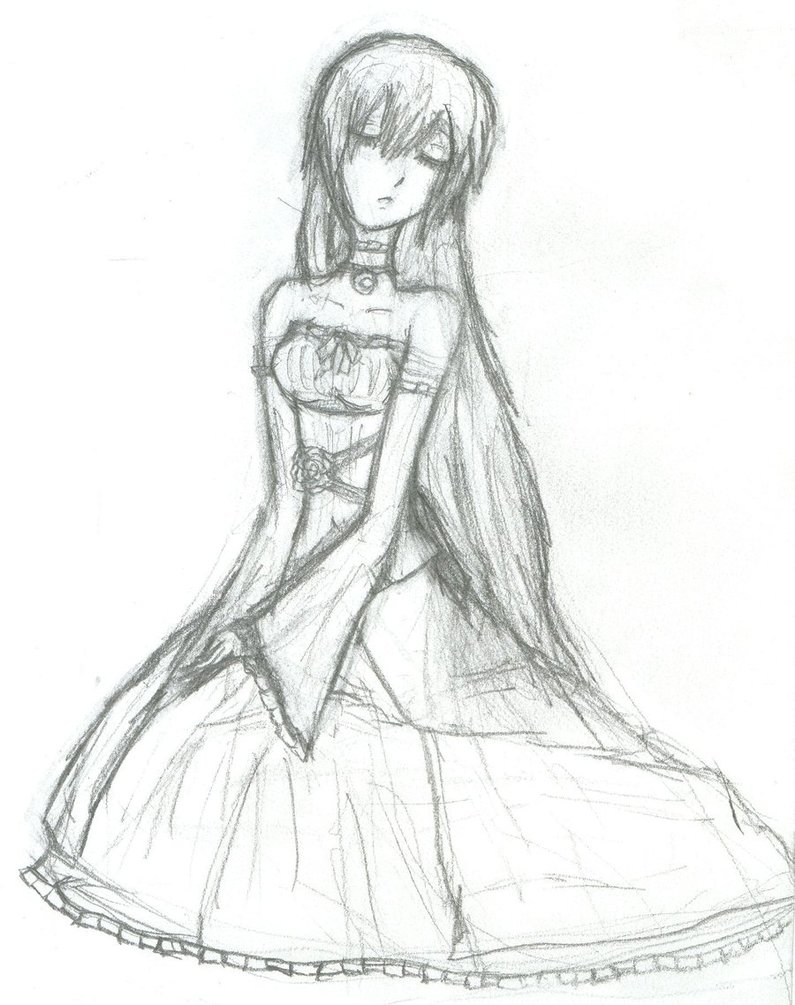 795x1005 Mizuki's Dress Sketch By Silverdeathrose