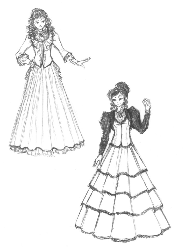 766x1043 Christa's Two Dresses By Madda Sketches