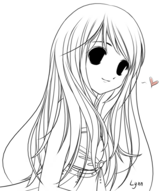527x621 A Girl With Long Straight Hair By Whitemoonlight