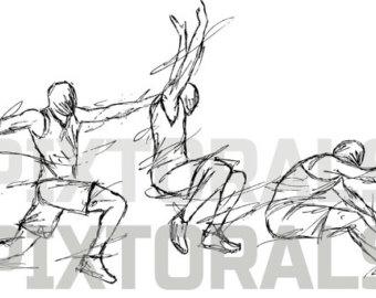 Long Jump Drawing