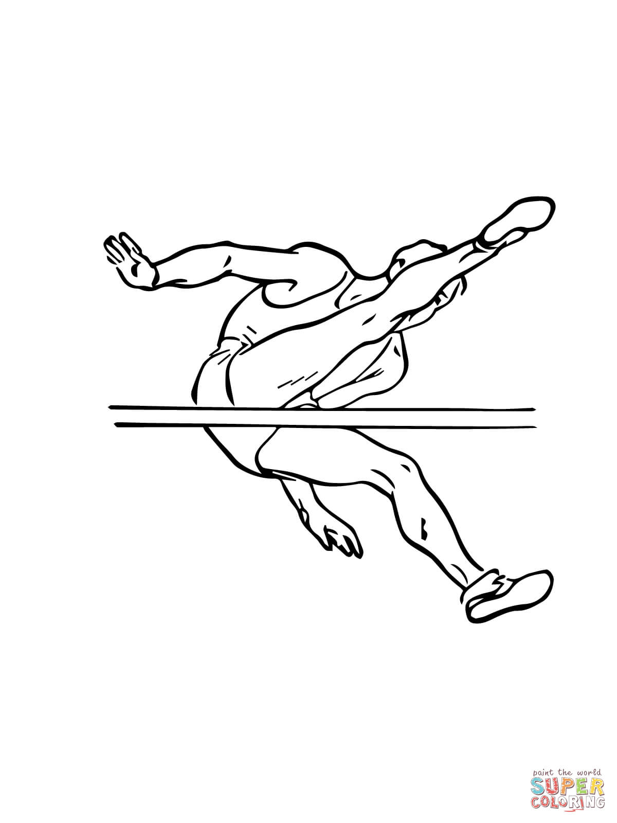 1200x1600 High Jump Coloring Page Free Printable Coloring Pages
