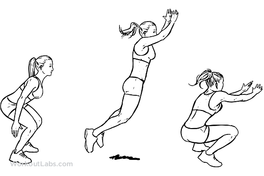 540x360 Standing Long Jump Illustrated Exercise Guide
