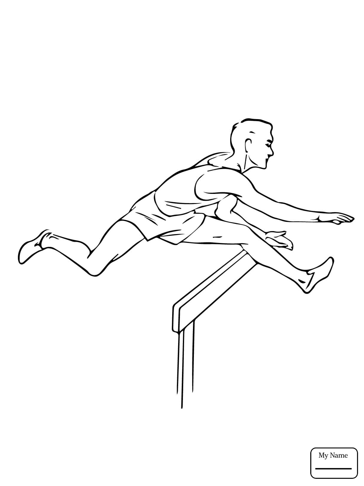 1224x1632 Sports Long Jump Landing Coloring Pages