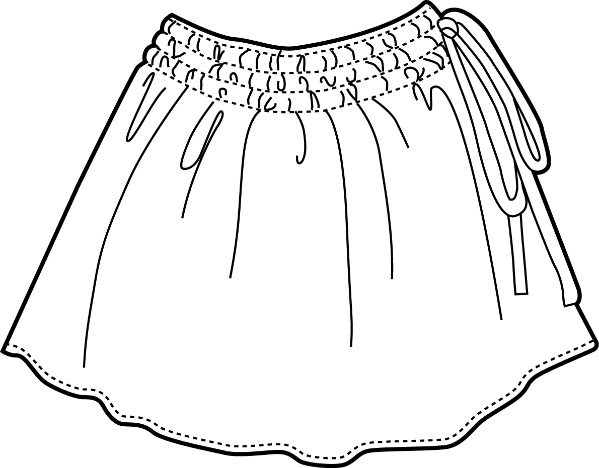 1190x931 Long Skirt Coloring Page Pants Coloring Page