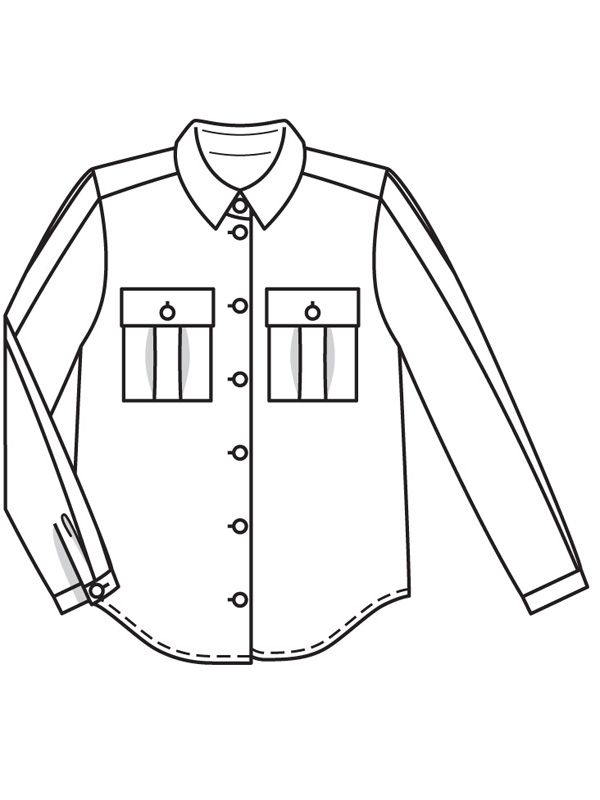Long Sleeve Shirt Drawing
