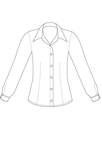 425x595 Lsj 299l Cs Ladies Collins Street Stripe Long Sleeve Shirt