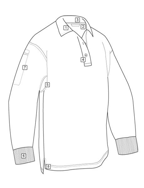 460x600 Men's Original Long Sleeve Polo Tru Spec Tactically Inspired