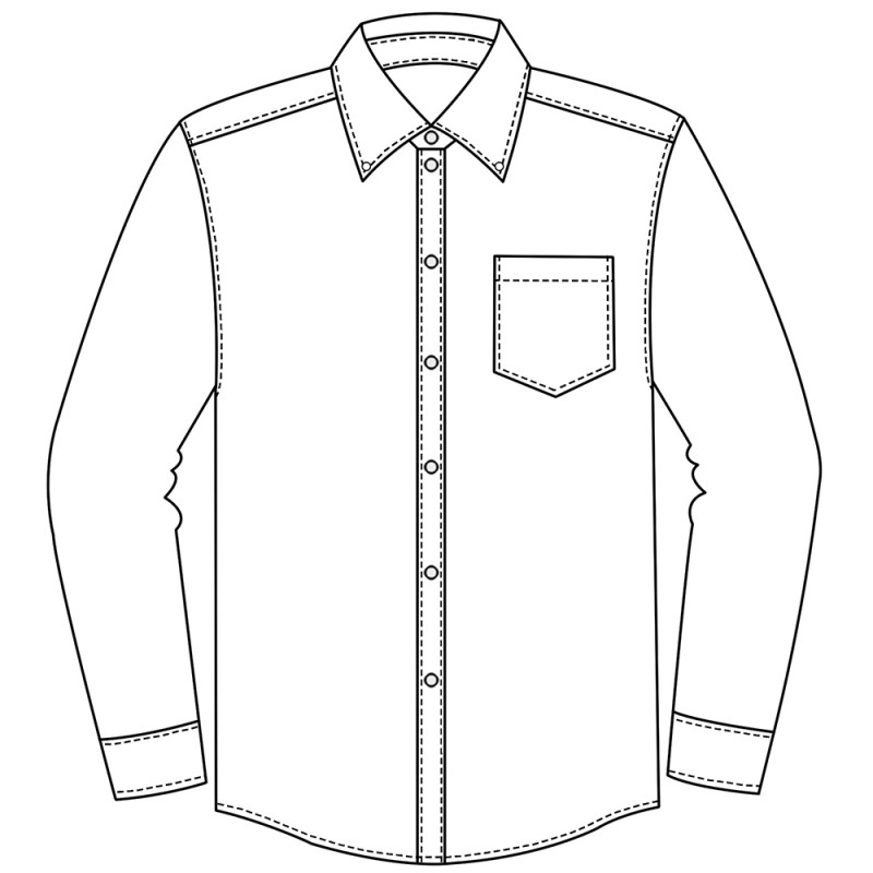 Line Drawing Shirt : Long sleeve shirt drawing at getdrawings free for