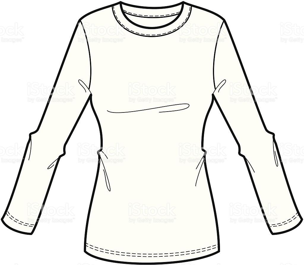 Long Sleeve Shirt Drawing At Getdrawings Com Free For