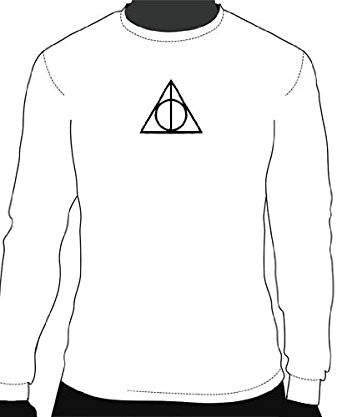 342x417 Harry Potter Deathy Hallows Long Sleeve Logo Tee Clothing