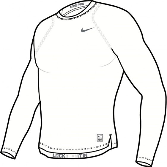 562x562 Nike Pro Cool Compression Men's Long Sleeve Shirt