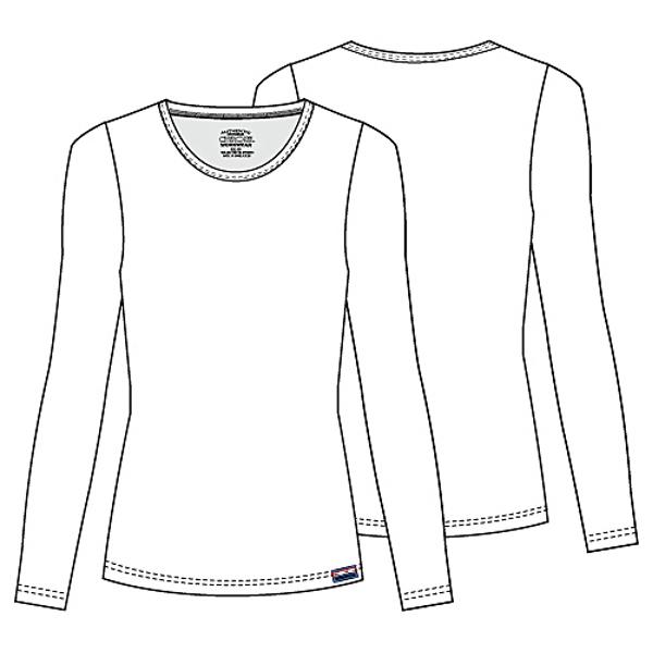 600x600 Cherokee Workwear Long Sleeve Crew Neck Knit Tee