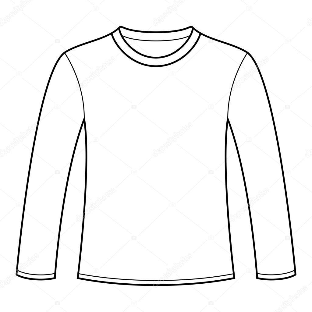 1024x1024 Long Sleeved T Shirt Template Stock Vector Nikolae