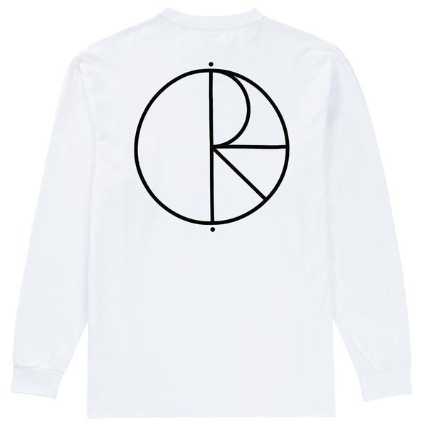 600x600 Polar Skate Co Stroke Logo Long Sleeve T Shirt White