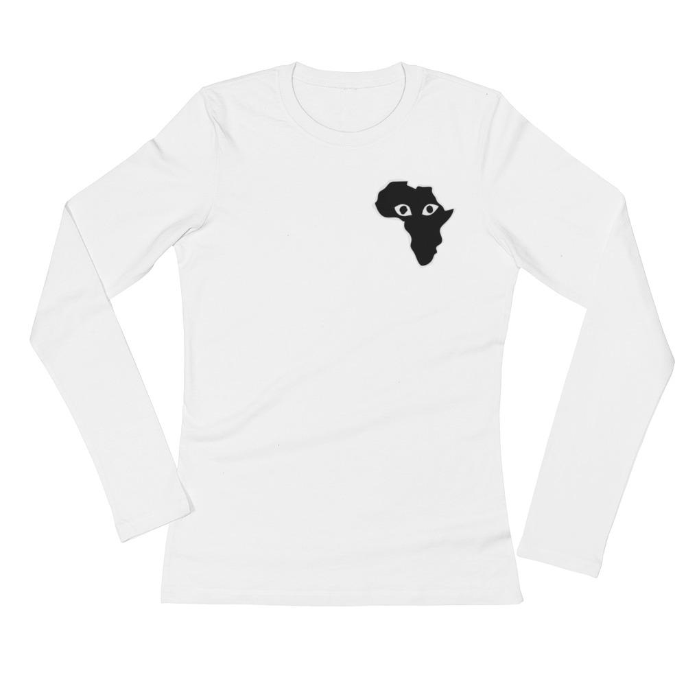 1000x1000 African Eyes Ladies' Long Sleeve T Shirt Staywoke Collection