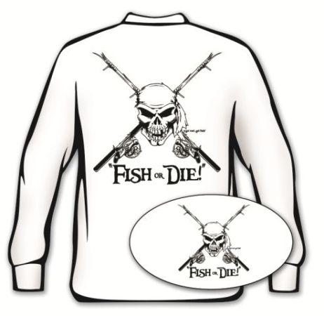 462x450 Fish Or Die' Long Sleeve Fishing T Shirt
