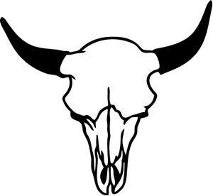 300x276 Longhorn Bull Cow Skull