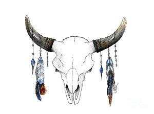 300x223 Longhorn Skull Paintings Fine Art America