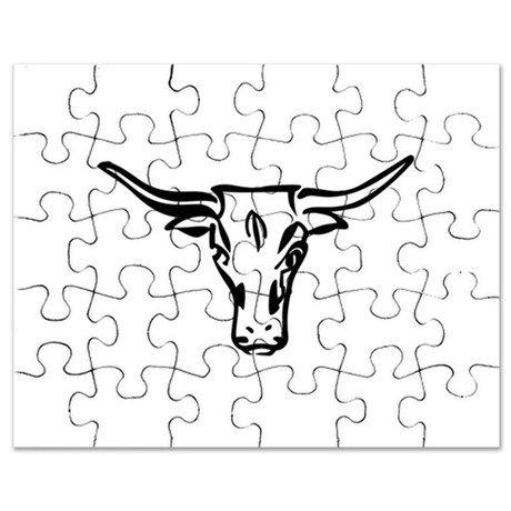 460x460 Longhorn Cattle Puzzles, Longhorn Cattle Jigsaw Puzzle Templates