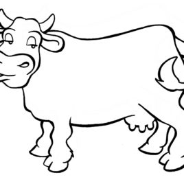 268x268 Longhorn Cow Coloring Page Kids Drawing And Coloring Pages