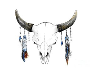 300x223 Longhorn Skull Posters