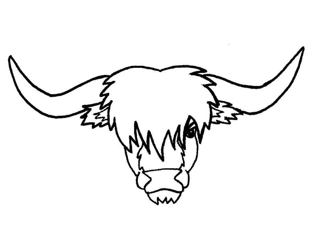 1023x750 Highland Cattle Clipart