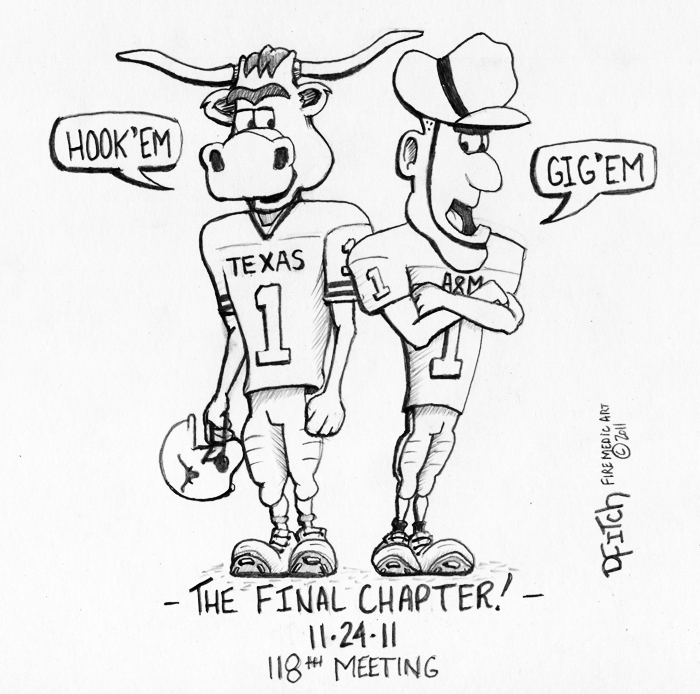 700x694 Longhorn Vs Aggies Final Chapter By Dfitchpencilart
