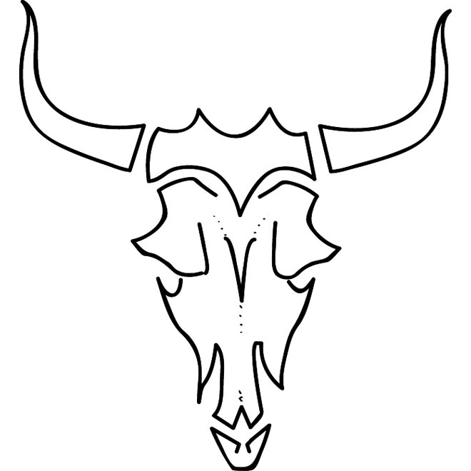 Longhorn skull drawing at free for for Longhorn coloring page