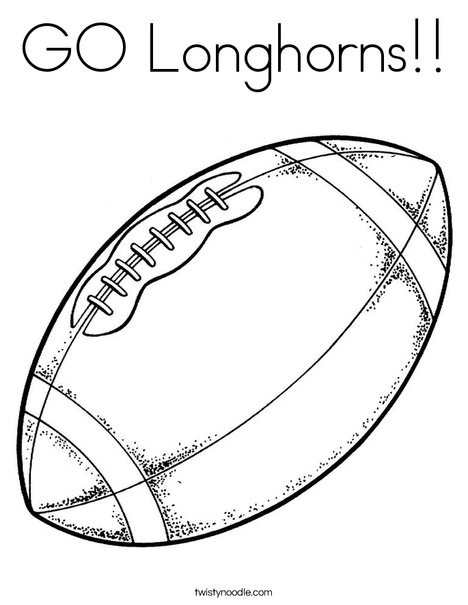 468x605 Go Longhorns Coloring Page