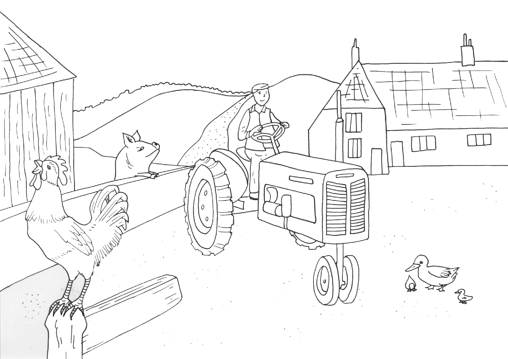 1742x1233 Countryside Coloring Pages